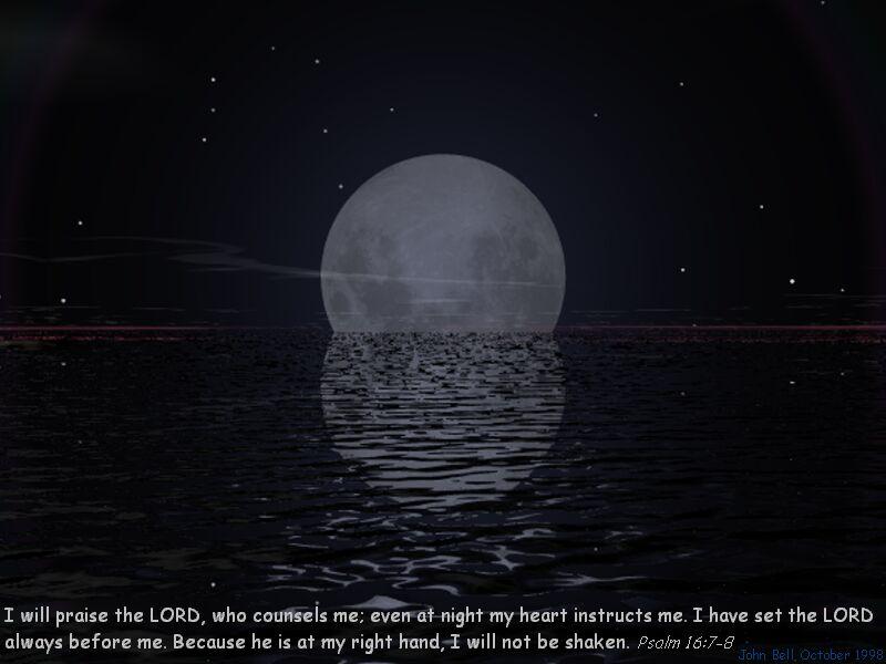 诗篇16 7 8